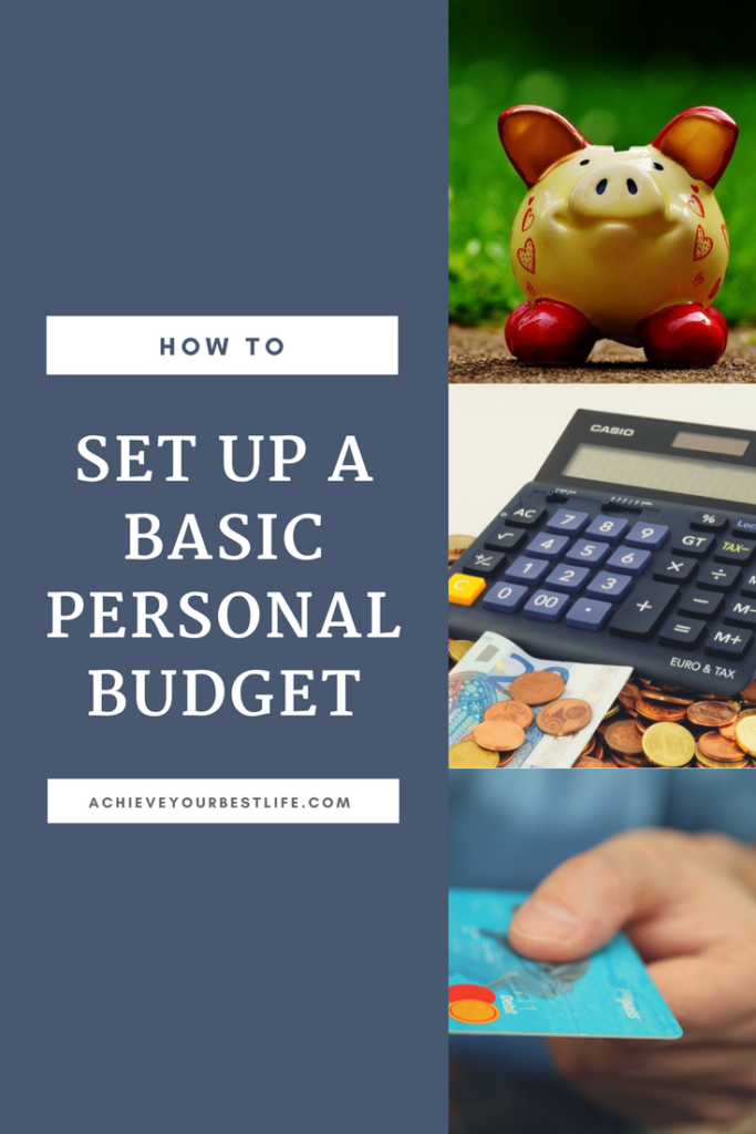 how to set up a personal budget
