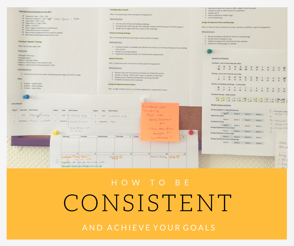 How to be Consistent and Achieve Your Goals