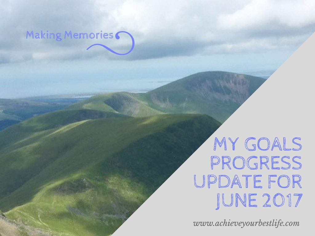 personal goals progress update