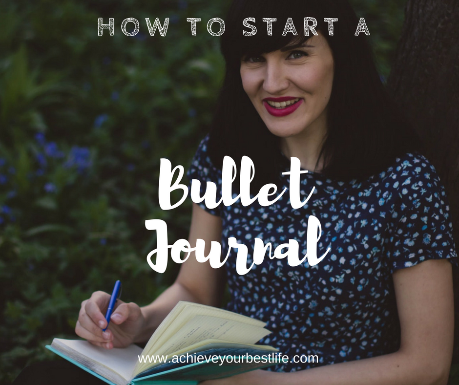 using a bullet journal how to start a bullet journal