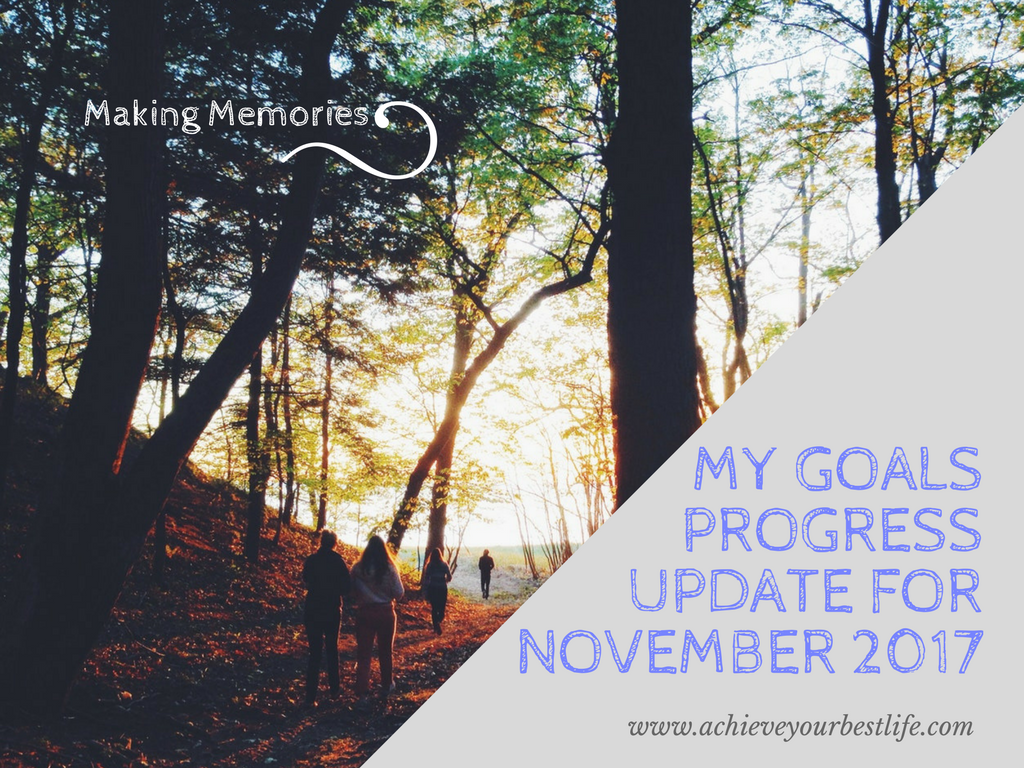 personal goals progress update November