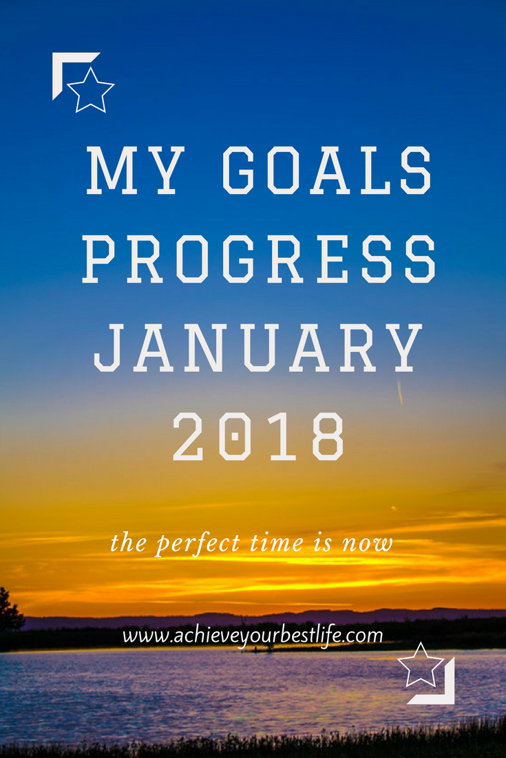 personal goals progress update jan 18